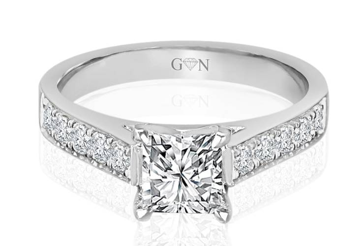Ladies Multi Set Engagement Ring - R1026 - GN Designer Jewellers