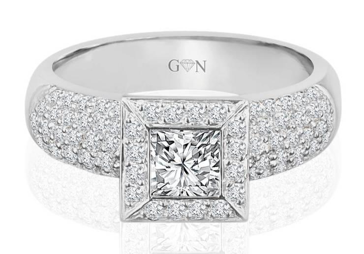 Ladies Halo Design Engagement Ring - R1030 - GN Designer Jewellers