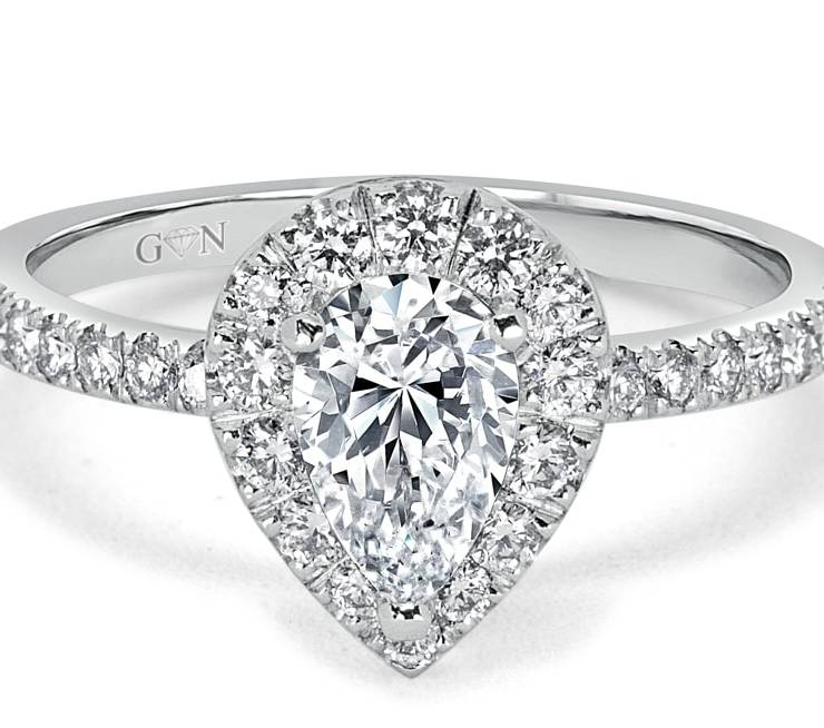 Ladies Halo Design Engagement Ring - R1031 - GN Designer Jewellers