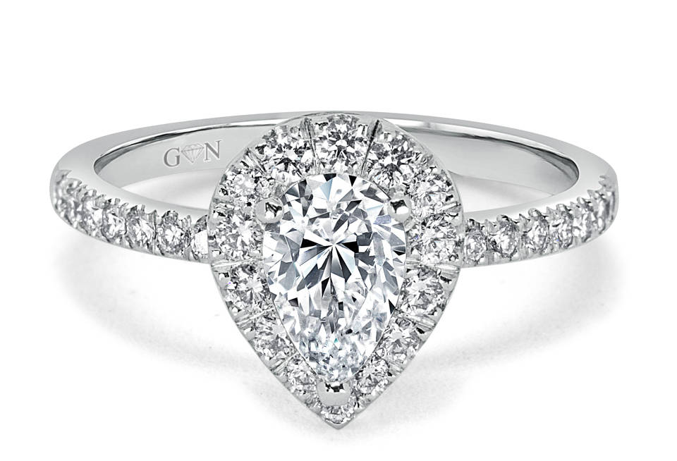 Ladies Halo Design Engagement Ring - R1031 - GN Designer Jewellers