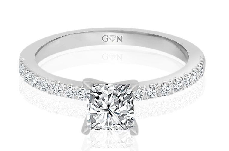 Ladies Multi Set Engagement Ring - R1043 - GN Designer Jewellers