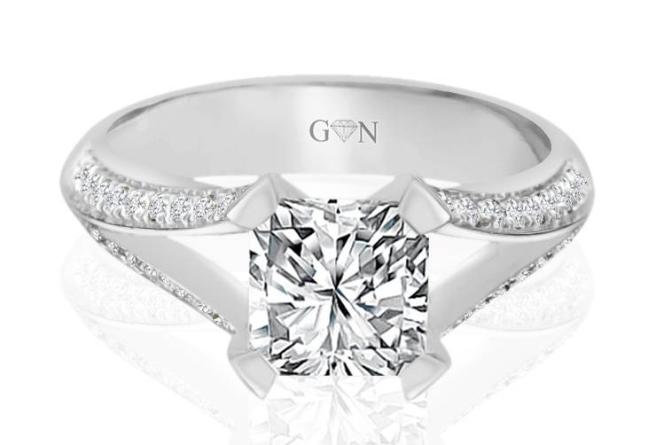 Ladies Multi Set Engagement Ring - R1050 - GN Designer Jewellers
