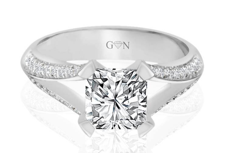 Ladies Multi Set Engagement Ring - R1050 - GN Designer Jewellers