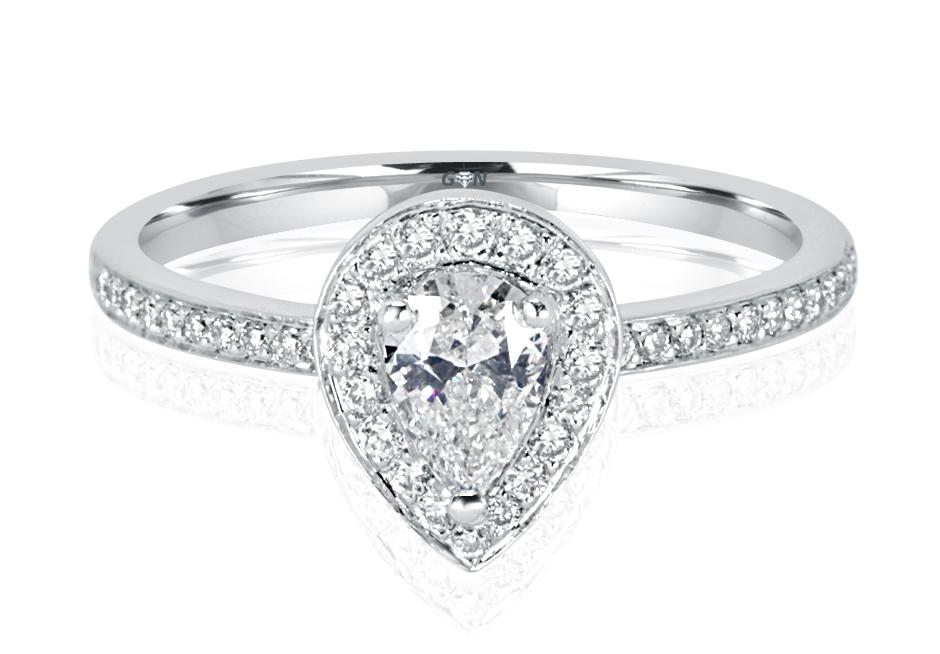 Ladies Halo Design Engagement Ring - R1054 - GN Designer Jewellers