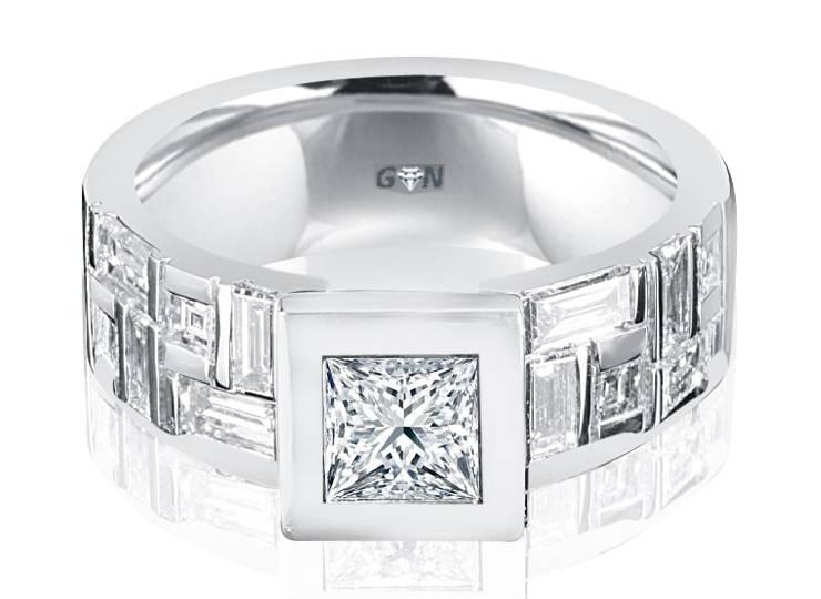 Ladies Multi Set Engagement Ring R10891 - GN Designer Jewellers