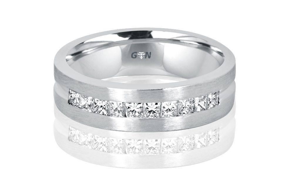 Gents Diamond Ring - R1141 - GN Designer Jewellers