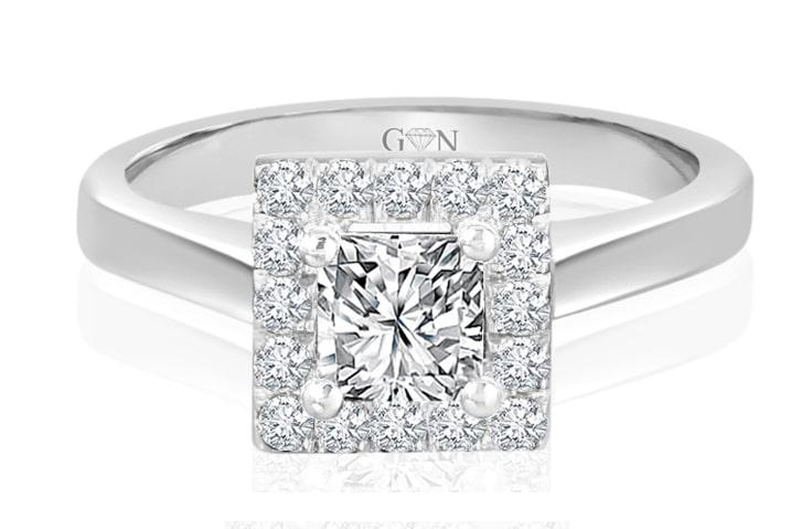 Ladies Halo Design Engagement Ring - R1630 - GN Designer Jewellers