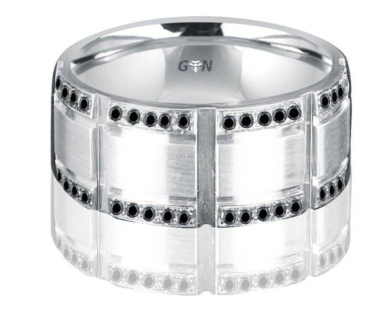 Gents Diamond Ring - R2002 - GN Designer Jewellers