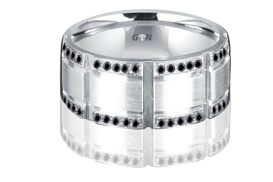 Gents Diamond Ring - R2002 - GN Designer Jewellers