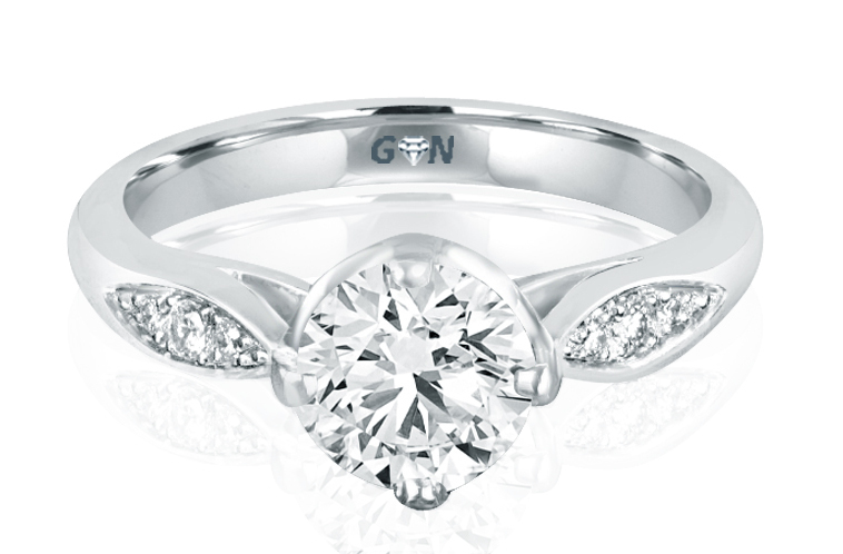 Three Stone Design Engagement Ring - R2007 - GN Designer Jewellers