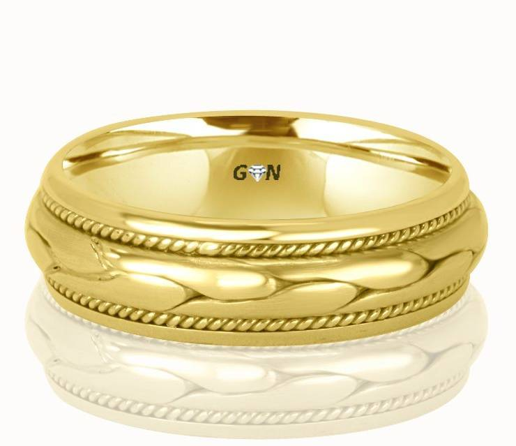 Gents Wedding Ring - R298 - GN Designer Jewellers