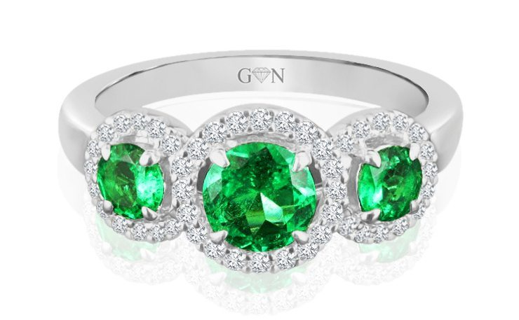 Ladies Halo Design Engagement Ring - R409 - GN Designer Jewellers