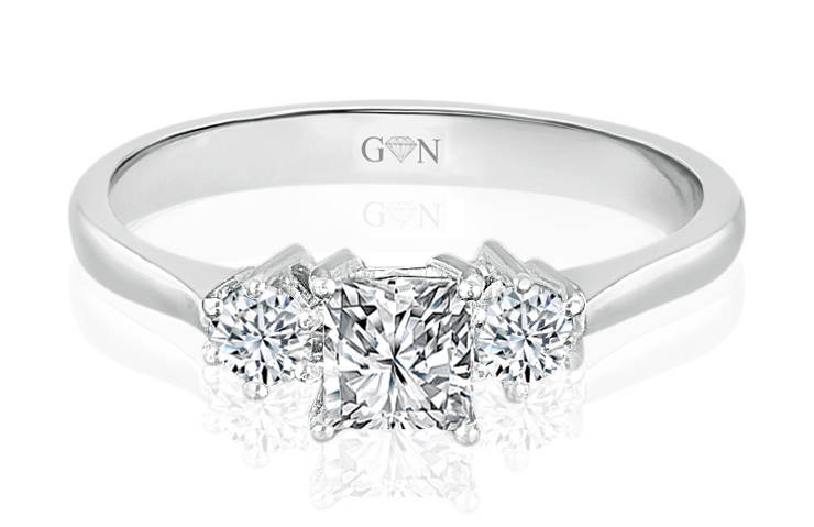 Ladies Three Stone Design Engagement Ring - R429 - GN Designer Jewellers