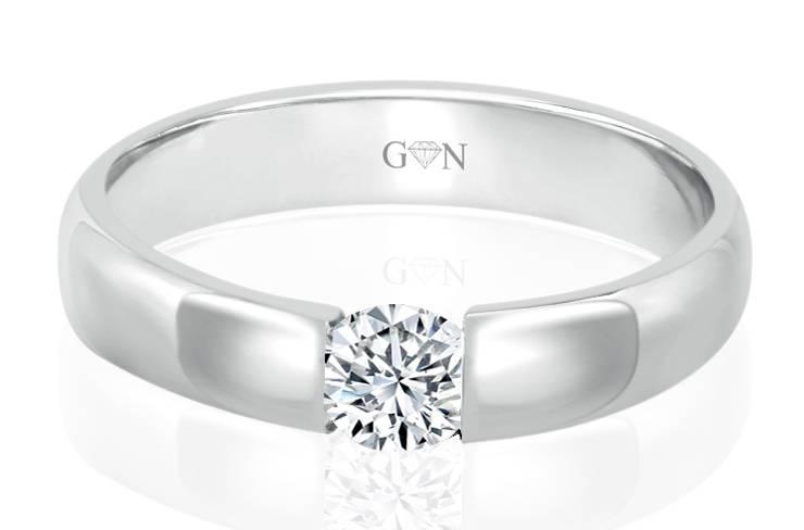 Ladies Solitaire Design Engagement Ring - R441 - GN Designer Jewellers
