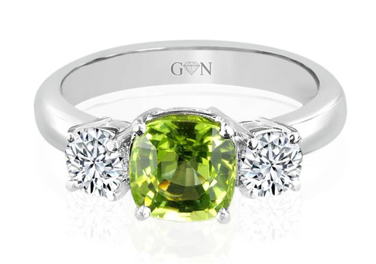 Three Stone design Engagement Ring - R452 - GN Designer Jewellers