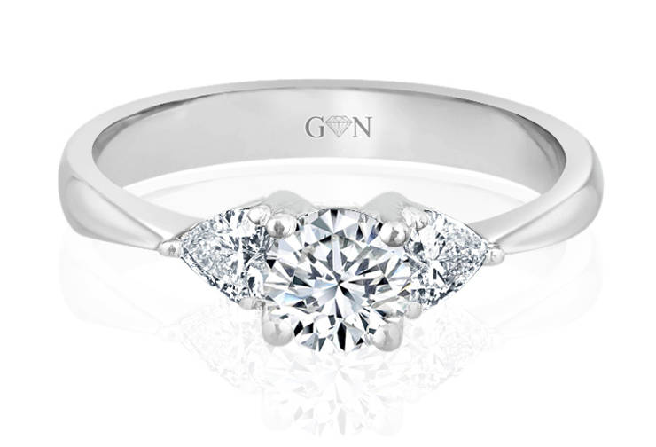 Three Stone Design Engagement Ring - R473 - GN Designer Jewellers