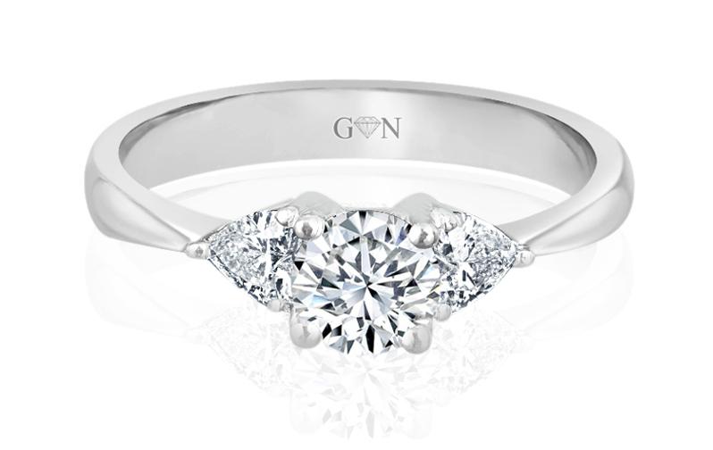 Three Stone Design Engagement Ring - R473 - GN Designer Jewellers