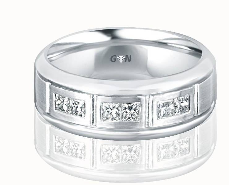 Gents Diamond Ring - R478 - GN Designer Jewellers