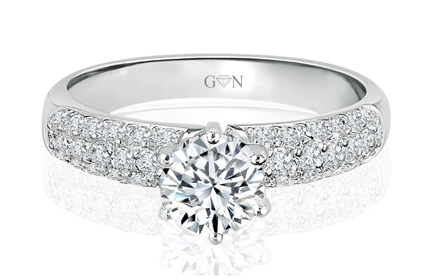 Ladies Multi Set Engagement Ring - R492a - GN Designer Jewellers