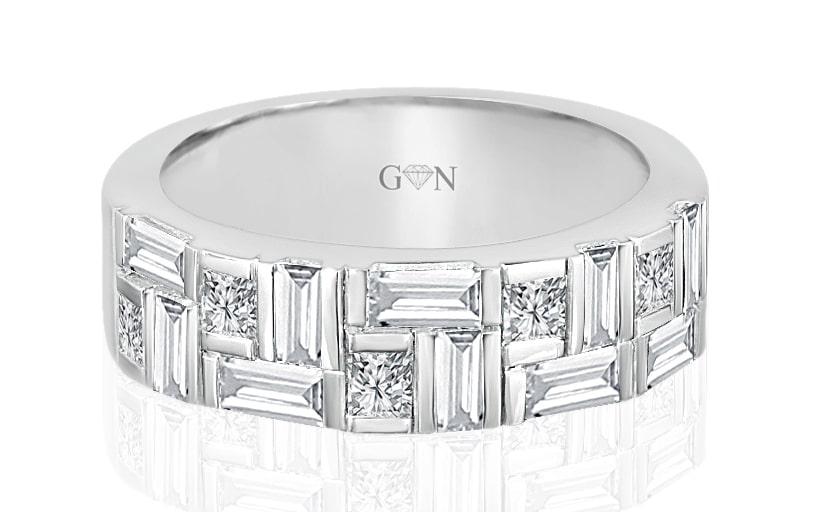 Ladies Multi Set Design Celebration Ring - R498 - GN Designer Jewellers