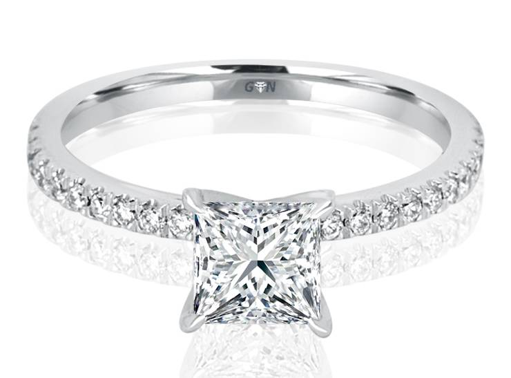 Ladies Solitaire Multi Band Engagement Ring - R510 - GN Designer Jewellers
