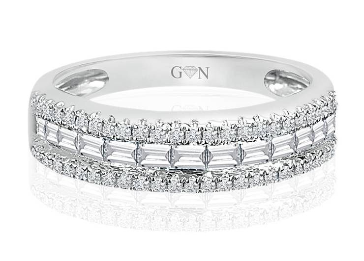 Ladies Multi Set Design Celebration Ring - R512 - GN Designer Jewellers