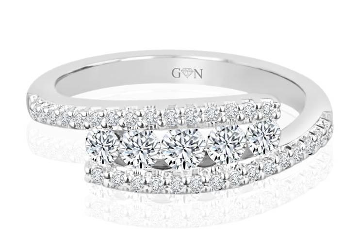 Ladies Multi Set Design Celebration Ring - R513 - GN Designer Jewellers