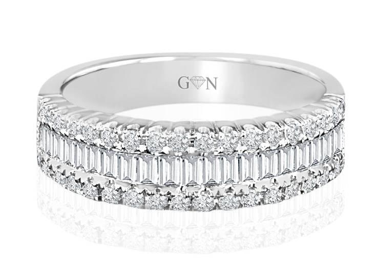 Ladies Multi Set Design Engagement Ring - R516 - GN Designer Jewellers