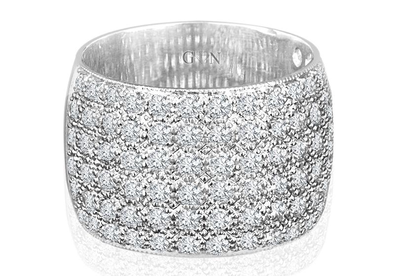 Ladies Multi Set Design Celebration Ring - R527 - GN Designer Jewellers