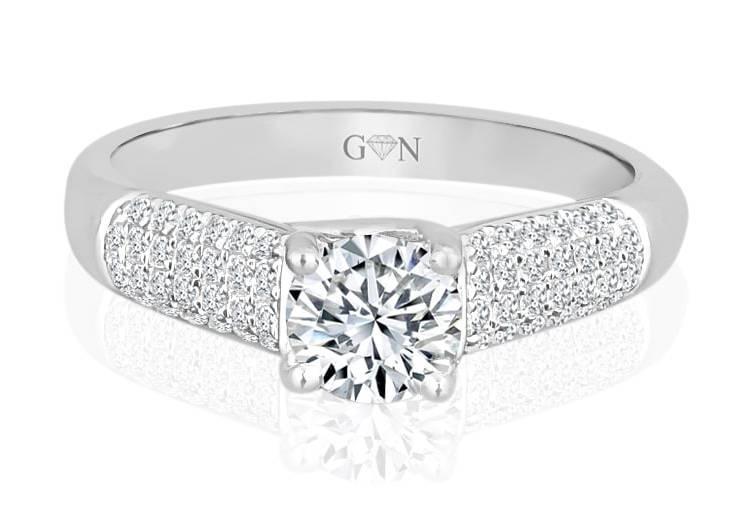 Ladies Multi Set Engagement Ring - R530 - GN Designer Jewellers