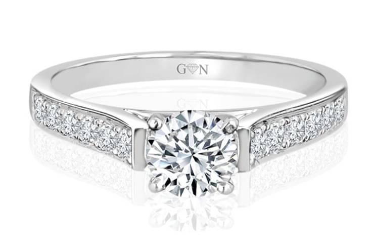 Ladies Multi Set Engagement Ring - R531 - GN Designer Jewellers