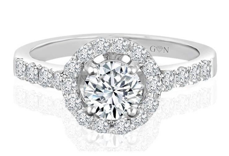 Ladies Halo Design Engagement Ring - R532 - GN Designer Jewellers