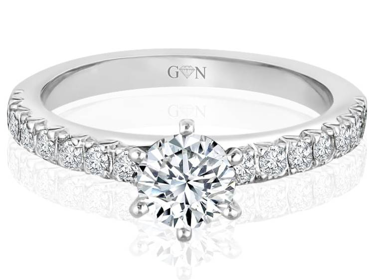 Ladies Multi Set Engagement Ring - R535 - GN Designer Jewellers