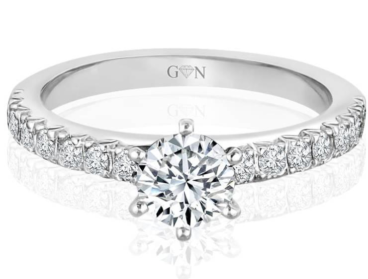 Ladies Multi Set Engagement Ring - R535 - GN Designer Jewellers