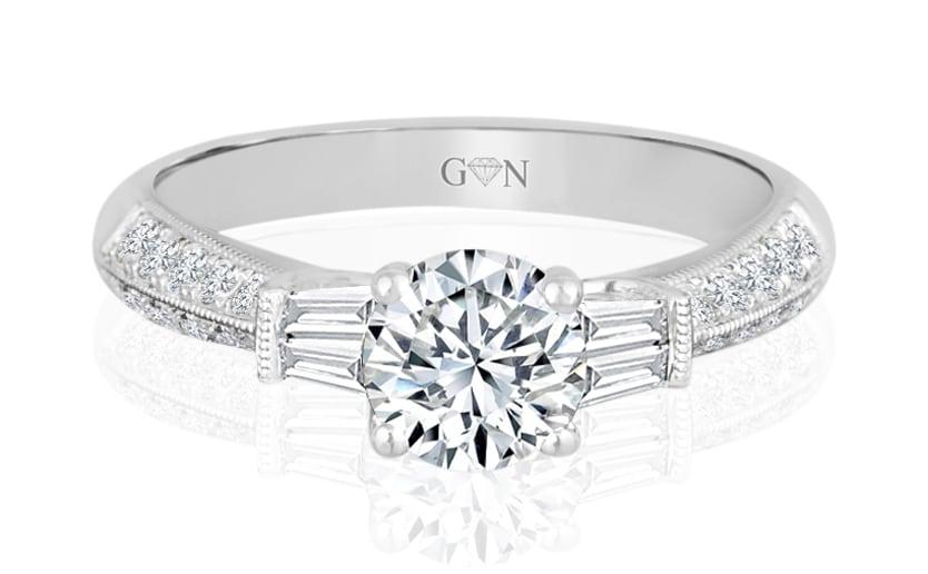 Ladies Multi Set Engagement Ring - R537 - GN Designer Jewellers