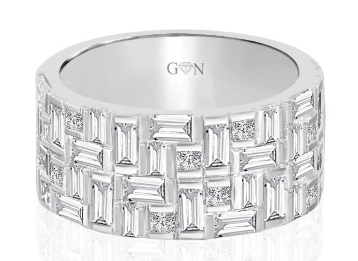 Ladies Multi Set Design Celebration Ring - R541 - GN Designer Jewellers