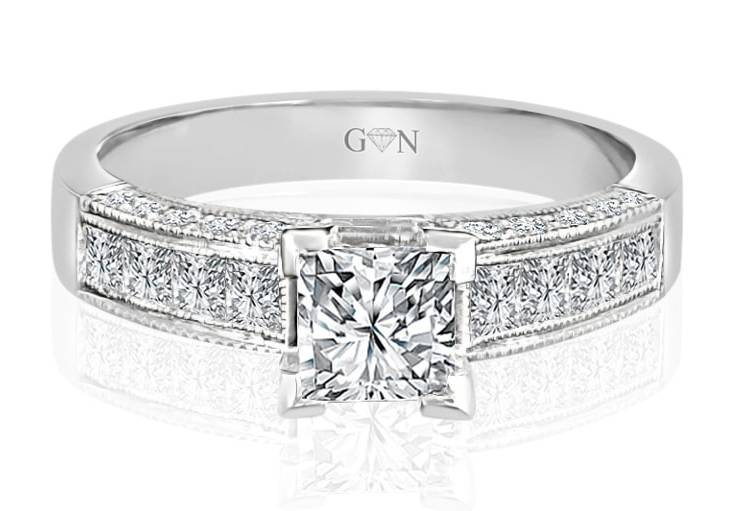Ladies Multi Set Engagement Ring - R544 - GN Designer Jewellers