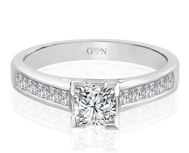 Ladies Multi Set Engagement Ring - R551 - GN Designer Jewellers