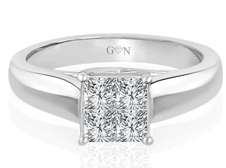 Ladies Solitaire Design Engagement Ring - R552 - GN Designer Jewellers