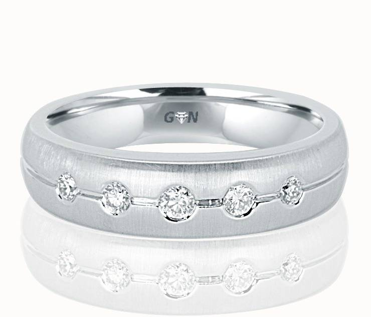 Gents Diamond Ring - R554 - GN Designer Jewellers