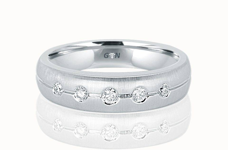 Gents Diamond Ring - R554 - GN Designer Jewellers