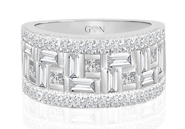 Ladies Multi Set Design Celebration Rings R564 - GN Designer Jewellers