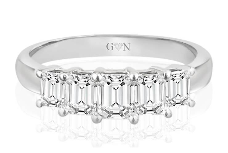 Ladies Multi Set Design Celebration Ring - R612 - GN Designer Jewellers