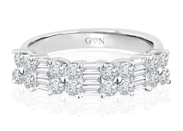 Ladies Multi Set Design Celebration Ring - R621 - GN Designer Jewellers