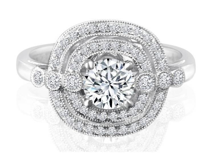 Ladies Halo Design Engagement Ring - R622 - GN Designer Jewellers