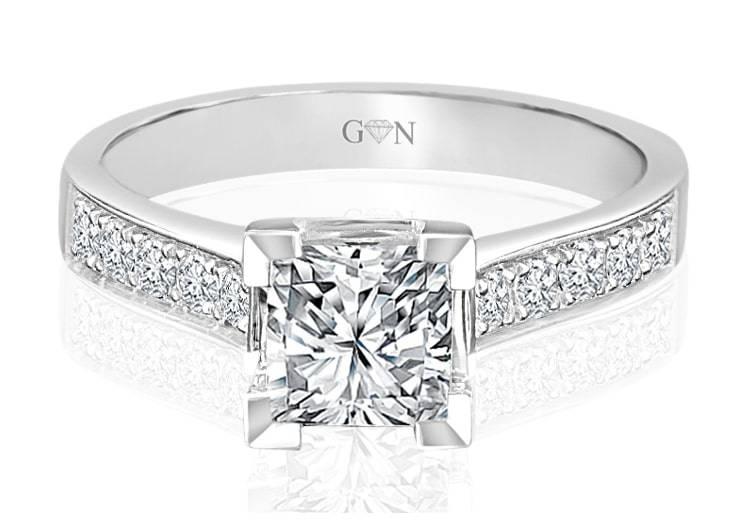 Ladies Multi Set Engagement Ring - R625 - GN Designer Jewellers
