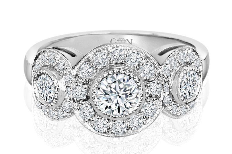 Ladies Halo Design Engagement Ring - R626 - GN Designer Jewellers