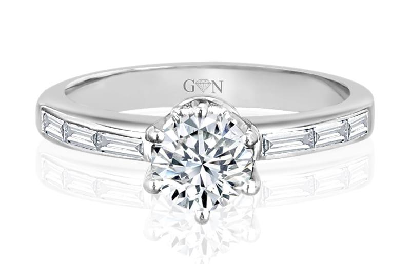 Ladies Multi Set Engagement Ring - R632 - GN Designer Jewellers