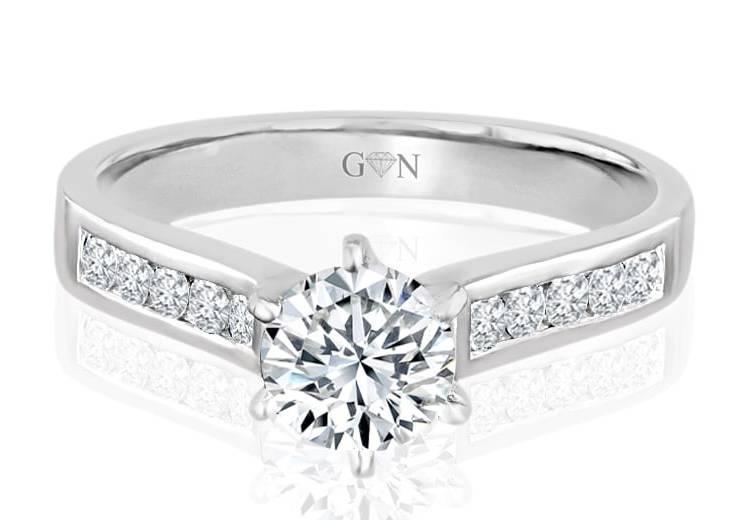 Ladies Multi Set Engagement Ring - R694 - GN Designer Jewellers
