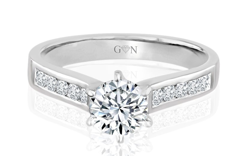 Ladies Multi Set Engagement Ring - R694 - GN Designer Jewellers